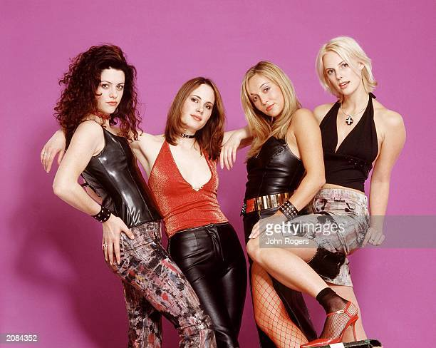 Actresses Kate Kennedy Kate Loustau Sarah Vandenbergh and Jane Peachey promote their new film Inbetweeners at a photo shoot in England in May 2001...