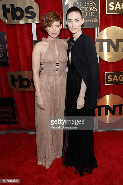 Actresses Kate Mara and Rooney Mara attend the 22nd Annual Screen Actors Guild Awards at The Shrine Auditorium on January 30 2016 in Los Angeles...