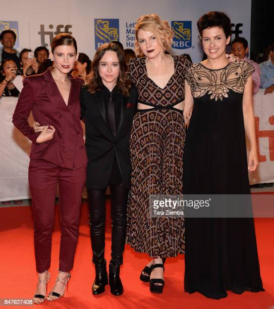 Actresses Kate Mara Ellen Page Amy Seimetz and director Tali ShalomEzer attend the 'My Days Of Mercy' premiere during the 2017 Toronto International...