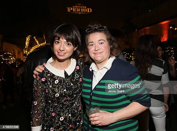 Actresses Kate Micucci and Betsy Sodaro attend Comedy Central's 'Another Period' Premiere Party Event at The Ebell Club of Los Angeles on June 10,...
