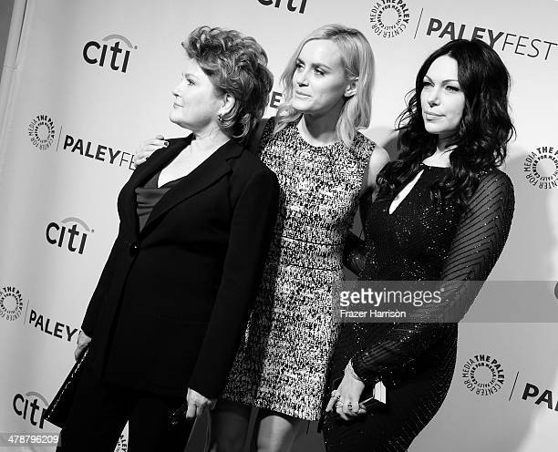 Actresses Kate Mulgrew Taylor Schilling and Laura Prepon arrives at The Paley Center For Media's PaleyFest 2014 Honoring Orange Is The New Black at...