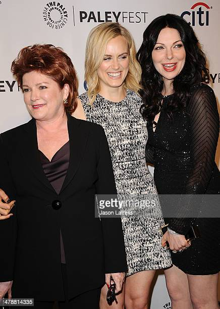 """Actresses Kate Mulgrew, Taylor Schilling and Laura Prepon attend the """"Orange Is The New Black"""" event at the 2014 PaleyFest at Dolby Theatre on March..."""