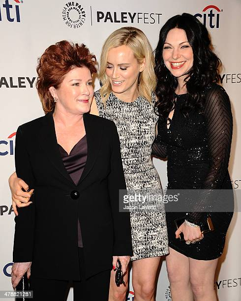 Actresses Kate Mulgrew Taylor Schilling and Laura Prepon attend the Orange Is The New Black event at the 2014 PaleyFest at Dolby Theatre on March 14...