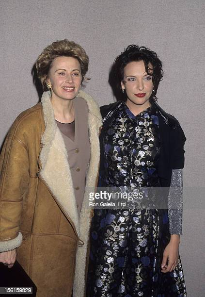 Actresses Kate Nelligan and Toni Collette attend the premiere of 'Muriel's Wedding' on March 8 1995 at Eastside Playhouse in New York City