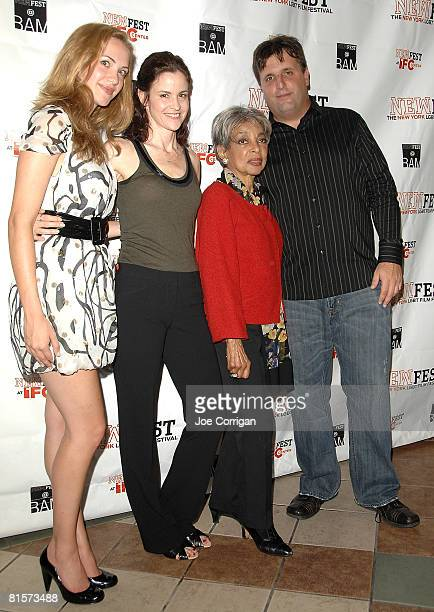 Actresses Kate Siegal Alley Sheedy and Ruby Dee and Director Kyle Schickner attend the 20th Annual Newfest Steam Premiere on June 14 2008 at AMC...