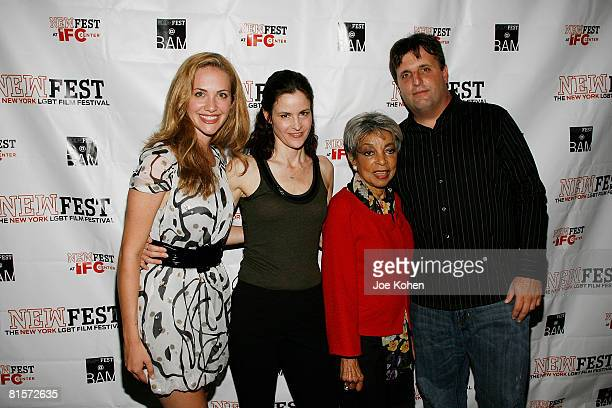 Actresses Kate Siegel Ally Sheedy Ruby Dee and Director Kyle Schickner attend the Steam premiere during the 20th Annual Newfest on June 14 2008 at...
