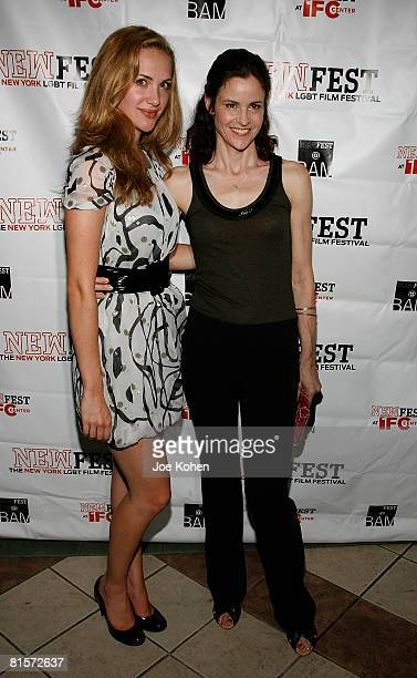 Actresses Kate Siegel and Ally Sheedy attend the Steam premiere during the 20th Annual Newfest on June 14 2008 at the AMC Loews 34th Street Theater...