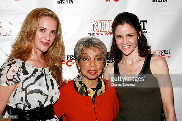 Actresses Kate Siegel Ruby Dee and Ally Sheedy arrive at the Steam premiere during the 20th Annual Newfest at the AMC Loews 34th Street Theater on...