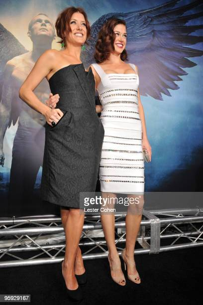 """Actresses Kate Walsh and Adrianne Palicki attend the """"Legion"""" Los Angeles premiere at ArcLight Cinemas Cinerama Dome on January 21, 2010 in..."""