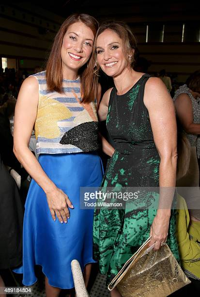 Actresses Kate Walsh and Amy Brenneman attend the 4th Annual Women Making History Brunch presented by the National Women's History Museum and Glamour...
