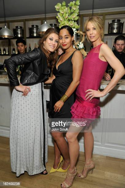 Actresses Kate Walsh Tracee Ellis Ross and Jenna Elfman attend the Women In Film's 6th Annual PreOscar Party hosted by Perrier Jouet MAC Cosmetics...
