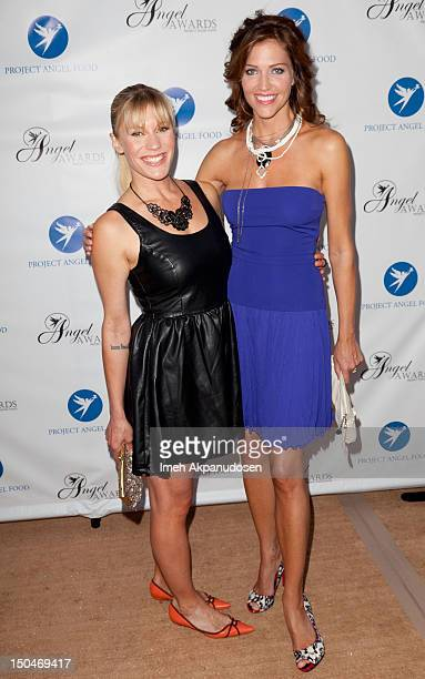 Actresses Katee Sackhoff and Tricia Helfer attend Project Angel Food's 17th Annual Angel Awards at Project Angel Food on August 18 2012 in Los...