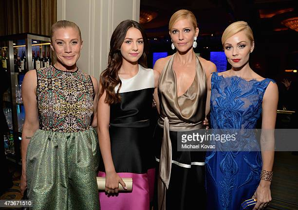 Actresses Katee Sackhoff Emma Fuhrmann Tricia Helfer and Laura Vandervoort attend The Humane Society Of The United States' Los Angeles Benefit Gala...