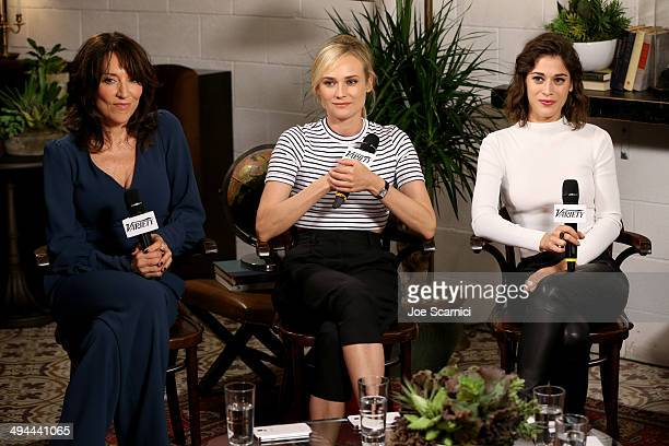 Actresses Katey Sagal Diane Kruger and Lizzy Caplan attend the Variety Studio powered by Samsung Galaxy at Palihouse on May 29 2014 in West Hollywood...