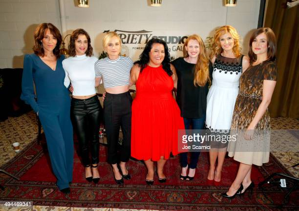 Actresses Katey Sagal Lizzy Caplan Diane Kruger Variety Associate Features Editor Jenelle Riley actresses Mireille Enos Connie Britton and Megan...