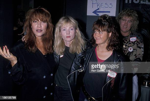 Actresses Katey Sagal Rebecca De Mornay and Ally Sheedy attending 'Housing Now Celebrity Press Conference' on July 25 1989 in Los Angeles California