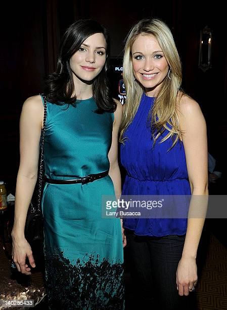 Actresses Katharine McPhee and Katrina Bowden attend Escape To Total Rewards at Gotham Hall on March 1 2012 in New York City