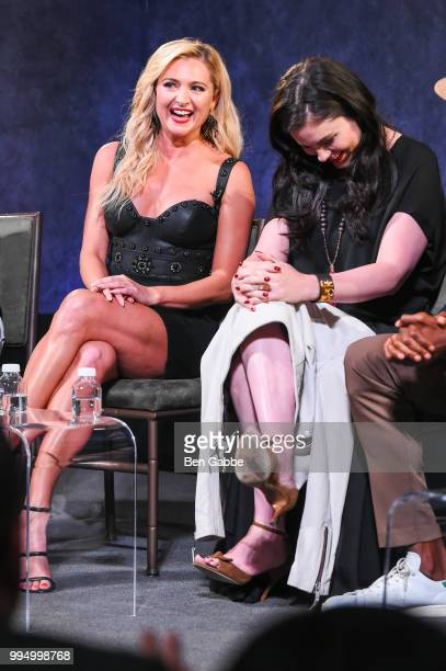 Actresses Katherine Bailess and Jodi Lyn O'Keefe attend Hit The Floor Clips Conversation at the Paley Center For Media on July 9 2018 in New York City