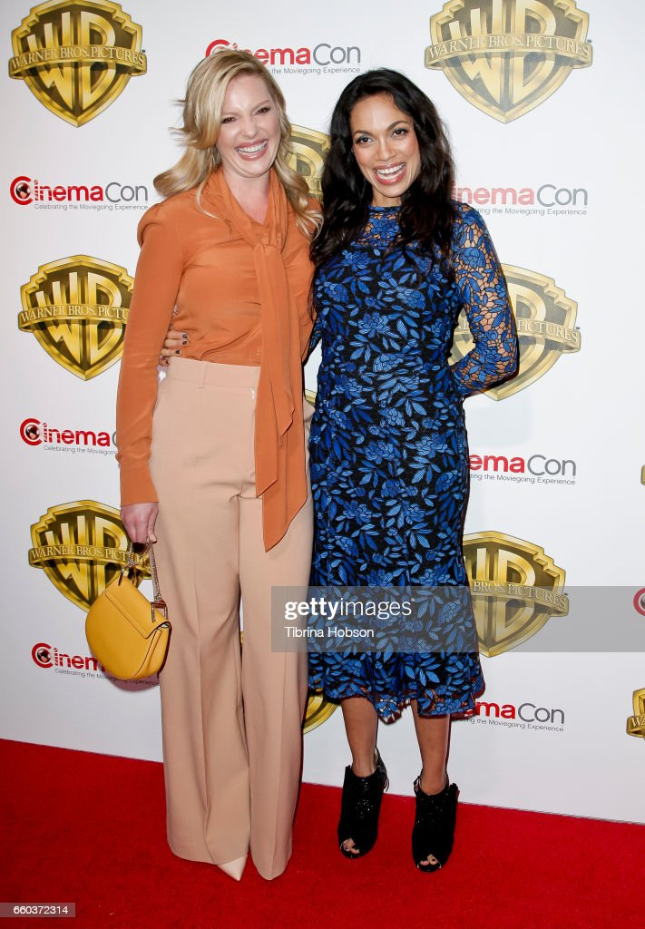 Actresses Katherine Heigl and Rosario Dawson attend Warner Bros. Pictures' 'The Big Picture', an exclusive presentation of our upcoming slate at The Colosseum at Caesars Palace during CinemaCon 2017 on March 29, 2017 in Las Vegas, United States.