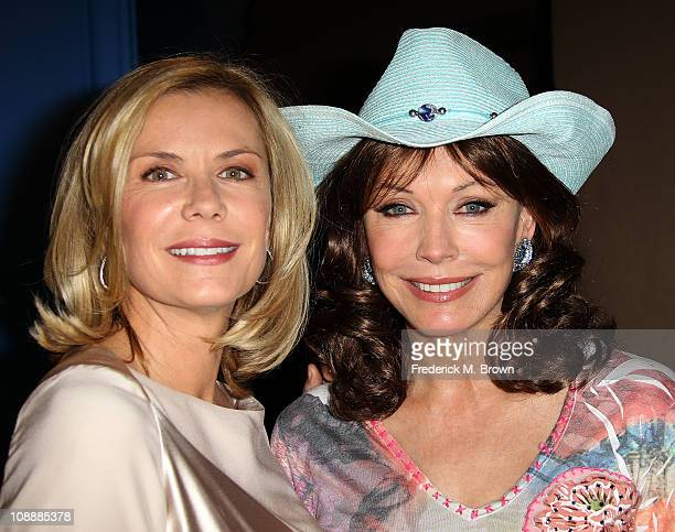 Actresses Katherine Kelly Lang and Hunter Tylo attend CBS' The Bold And The Beautiful 6000th espisode celebration at CBS Television City on February...
