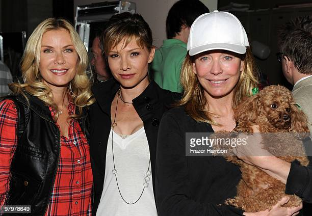 Actresses Katherine Kelly Lang Sarah Brown and LesleyAnne Down poses at CBS' 'Bold And The Beautiful' 23rd Anniversary Celebration at Television City...