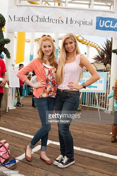 Actresses Katherine McNamara and Alexandria DeBerry attend Mattel Party On The Pier Benefiting Mattel Children's Hospital UCLA Inside at Pacific Park...