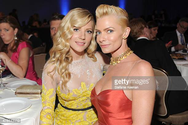 Actresses Katheryn Winnick and Jaime Pressly attend the 5th Annual Critics' Choice Television Awards at The Beverly Hilton Hotel on May 31 2015 in...