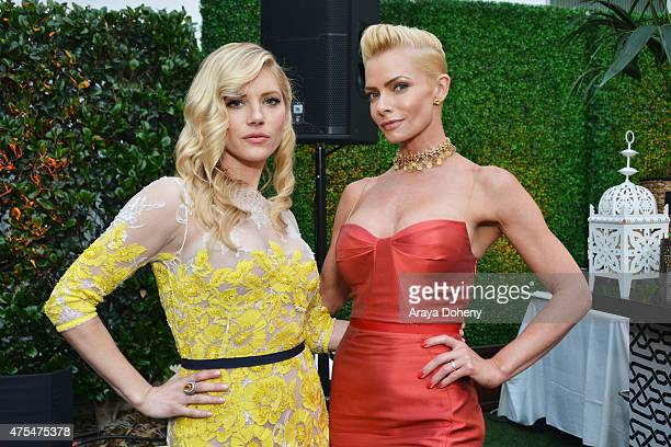 Actresses Katheryn Winnick and Jaime Pressly attend the 5th Annual Critics' Choice Television Awards After Party at the Oasis Terrace at The Beverly...