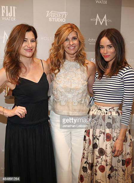 Actresses Kathryn Hahn Connie Britton and Abigail Spencer attend the Variety Studio presented by Moroccanoil at Holt Renfrew during the 2014 Toronto...