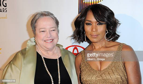 Actresses Kathy Bates and Angela Bassett arrive for the Special Needs Network's 9th Annual 'Evening Under The Stars' A Toast To Old Hollywood held at...