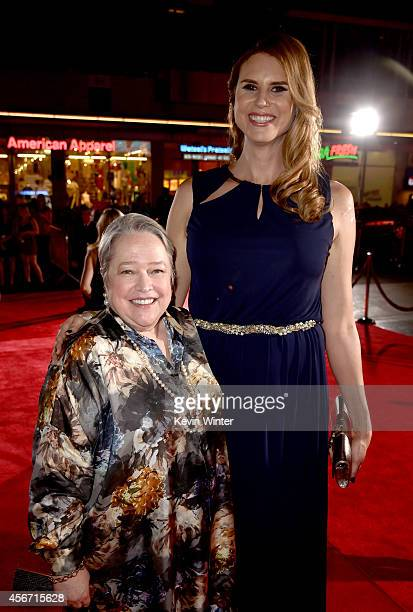 Actresses Kathy Bates and Erika Ervin attend the premiere screening of FX's American Horror Story Freak Show at TCL Chinese Theatre on October 5 2014...