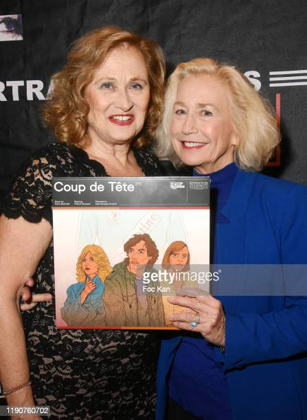Actresses Katia Tchenko and Brigitte Fossey attend the Portraits Croisés Photo Exhibition Preview by Paris Match at Cinema Mac Mahon on November 28...