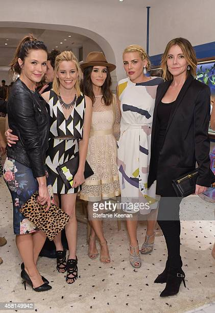 Actresses Katie Aselton Elizabeth Banks Abigail Spencer Busy Philipps and Christa Miller attend the Irene Neuwirth Flagship Grand Opening on October...