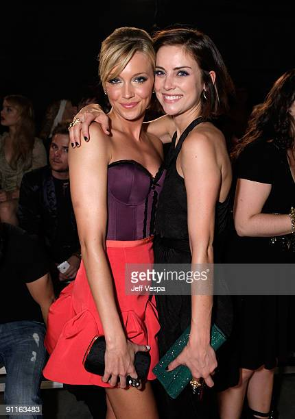 Actresses Katie Cassidy and Jessica Stroup during the 7th Annual Teen Vogue Young Hollywood Party held at Milk Studios on September 25 2009 in...