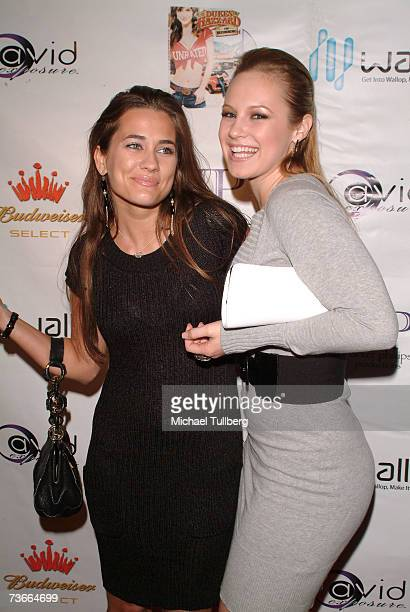 Actresses Katie Chonacas and Danielle Savre attend the release party for 'The Dukes Of Hazzard The Beginning' DVD held at the Forbidden City...