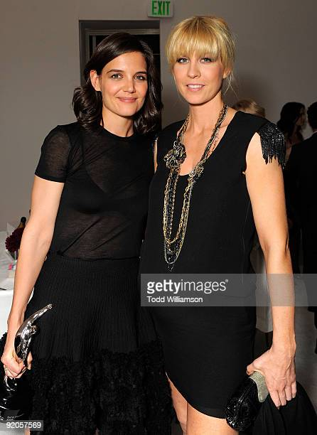 Actresses Katie Holmes and Jenna Elfman attend the 16th Annual ELLE Women in Hollywood Tribute at the Four Seasons Hotel on October 19 2009 in...
