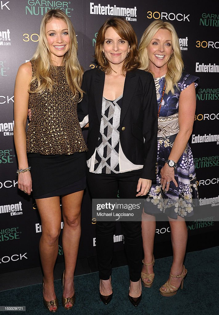 Actresses Katrina Bowden, Tina Fey, and Jane Krakowski attend Entertainment Weekly and NBC's celebration of the final season of 30 Rock sponsored by Garnier Nutrisse on October 3, 2012 in New York City.