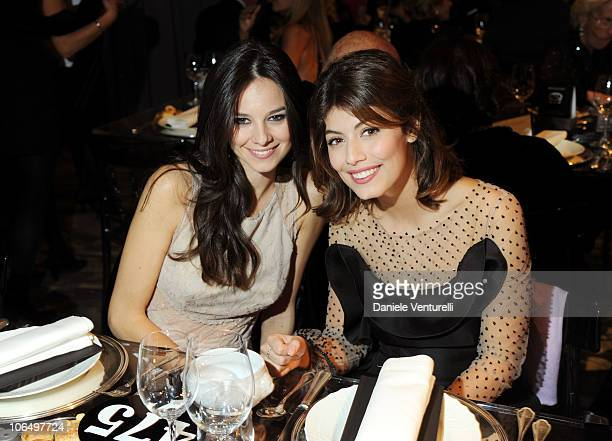 Actresses Katy Saunders and Alessandra Mastronardi attend The Bulgari Express for Save The Children Dinner and Auction Party at the Salone delle...