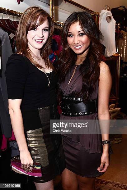 Actresses Kay Panabaker and Brenda Song attend the Foley Corinna Melrose Avenue Event With Poshglamcom at Foley Corinna on June 9 2010 in Los Angeles...