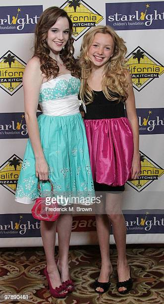 Actresses Kay Panabaker and Peyton List attend the Starlight Children's Foundation's annual 2010 'A Stellar Night' gala at the Hyatt Regency Century...