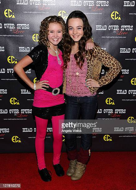 Actresses Kaylee Dodson and Ava Allan arrive at the world premiere of 'Head Over Spurs In Love' at Majestic Crest Theatre on March 24, 2011 in Los...