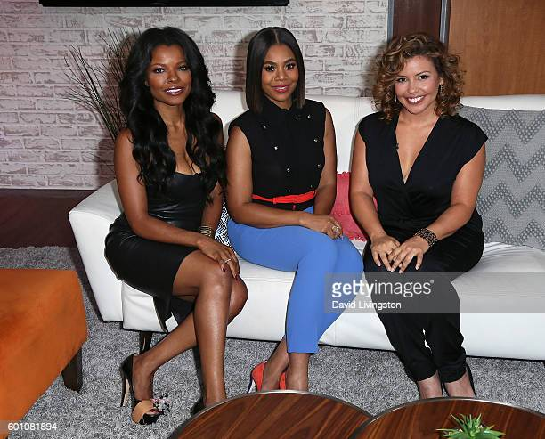 Actresses Keesha Sharp Regina Hall and Justina Machado visit Hollywood Today Live at W Hollywood on September 9 2016 in Hollywood California