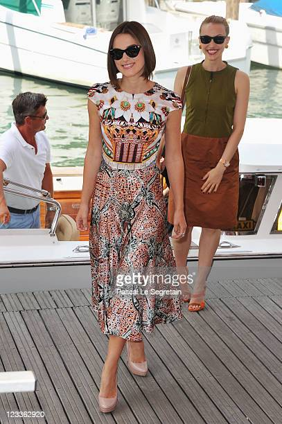 Actresses Keira Knightley and Sarah Gadon arive at the A Dangerous Method photocall at the Palazzo del Cinema during the 68th Venice Film Festival on...