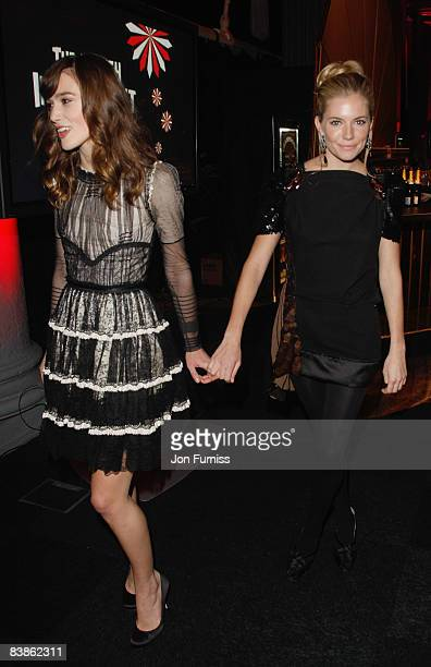 Actresses Keira Knightley and Sienna Miller attend the British Independent Film Awards at the Old Billingsgate Market on November 30 2008 in London...