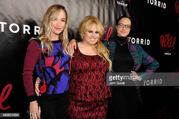 Actresses Kelley Jakle Rebel Wilson and Alexis Knapp attend Tracy Paul Company presents REBEL WILSON FOR TORRID Launch at Milk Studios on October 22...