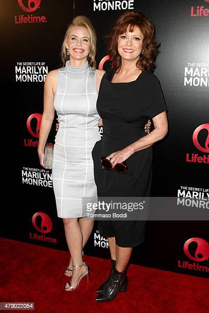 Actresses Kelli Garner and Susan Sarandon attend the Lifetime's Miniseries 'The Secret Life Of Marilyn Monroe' special screening and panel held at...