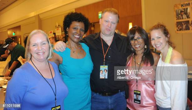 Actresses Kellie Flanagan Deborah Lacey agent Scott Ray Iona Morris and Molly Hagen signs autographs at The Hollywood Show held at Westin LAX Hotel...