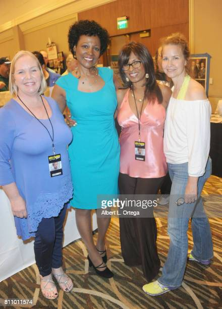 Actresses Kellie Flanagan Deborah Lacey Iona Morris and Molly Hagen signs autographs at The Hollywood Show held at Westin LAX Hotel on July 8 2017 in...