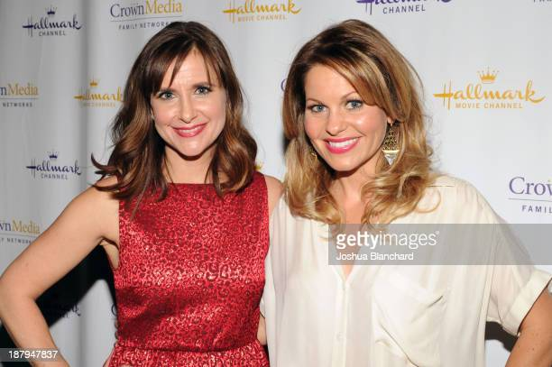Actresses Kellie Martin and Candice Cameron arrive at the Hallmark Channel's Annual Holiday Event Premiering The Christmas Ornament at La Piazza...