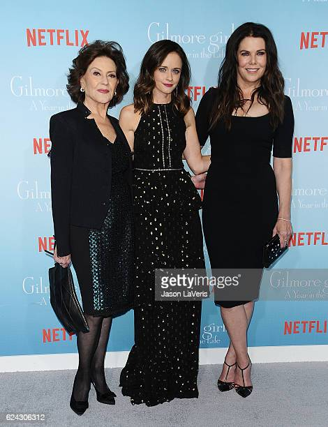 Actresses Kelly Bishop Alexis Bledel and Lauren Graham attend the premiere of 'Gilmore Girls A Year in the Life' at Regency Bruin Theatre on November...